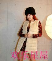 Free shipping  Knit fur vest coat