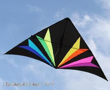 Skyking 10ft Big RAINBOW ILLUSION Delta Kite , New Design 2013