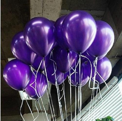 Purple 100 pcs Helium Pearl Circle latex Balloons Birthday Christmas Party Decoration wholesale 10 inch balloon(China (Mainland))