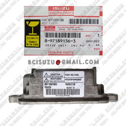 Isuzu OEM 8-97189136-3 , Delphi No16267710 Engine Control Unit For Opel Vauxhall Astra/Merive 1.7 Dti(China (Mainland))