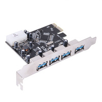 4 Port USB 3.0 USB3.0 HUB to PCI-E PCI Card Adapter Converter