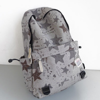 Vintage fashion preppy style small fresh print travel computer backpack