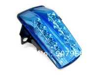Motorcycle Chrome LED Tail Light Turn Signal Blue For Suzuki 03-2007 SV1000 03-08 SV650