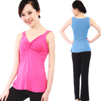 Yoga clothes set yoga clothing sleeveless rayon