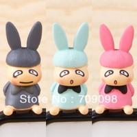 Free shipping korean style popular A rabbit dust plug earphone jack plug for iphone htc samsung wholesale