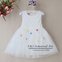 Ready Stock Children Dresses White Girl  Princess Dresses With Colors Dot Party Dress for Little Girl Wholesale GD30701-19