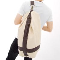 Male canvas  bucket bag  the trend of the big bag single shoulder  gym bag