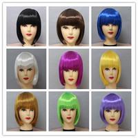 Christmas masquerade party supplies multicolour bobo wig child multicolour wig