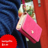 Multifunctional PU leather for iphone 4s/ 5  for SAMSUNG htc smart mobile phone bag clutch coin purse with card holder free ship