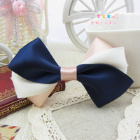 Handmade Blue Butterfly bow Hair accessories headband Hair clip hairpin Brooch