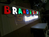 CUSTOMIZED outdoors lighted acrylic frontlit led sign letter channel letter advertising signboard