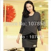 2014 New Summer Fashion Stylish Nursing Wear Clothes Long-Sleeve Maternity shirts Pregnant women t-shirt Maternity tops #YZ432