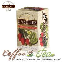 Basilur strawberry kiwi fruit 20 fruit flavor black tea bag