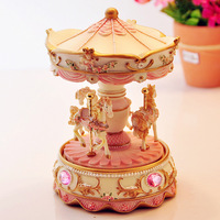 Carousel  Music box musical boxes creative boutique birthday gift