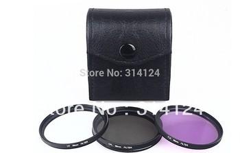 + tracking number 1pcs 67 mm 67mm UV FLD CPL BAG Filter Set Polfilter for DSLR Camera EF-S EF Lens
