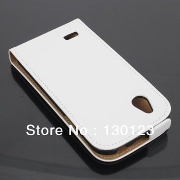Genuine Flip PU Leather Case for HTC T328w Desire V T328e Desire X mobile phone skin protective cover free shipping Sample 1pcs