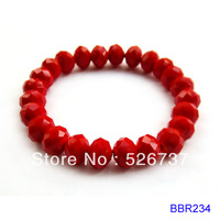 cute many colors faceted roundel 8x10mm glass beads beaded bracelets jewelry