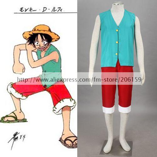 Anime One Piece Monkey D Luffy Cosplay Costume Halloween
