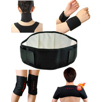 Automatic heating tourmaline neck with knee brace pad kneepad wrist support shoulder pads 7 set  free shipping