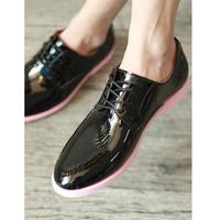 2013 male shoes neon color sole elevator shoes casual shoes shiny men's brockden shoes