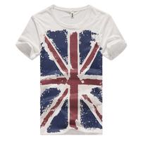 M word flag 2013 male summer t-shirt male short-sleeve T-shirt short-sleeve T-shirt american flag t-shirt male  t shirt tee