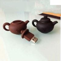 Free shipping Wholesale full capacity 2GB 4GB 8GB 16GB 32GB teapot shape 2.0 Memory Stick USB Flash Drive, W0019