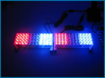 High power 96 LED Car strobe Led warning light, Flashing blue red white dash lamp Police car light 2x48 led