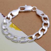 SPCH222 Free Shipping Fashion Bracelet Silver Jewelry jewellry  Charm Tag Chain Bracelets Brand New