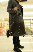 Red pepper - 2013 gold rivet rivets all-match women's backpack handbag