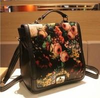 Red pepper - 2013 vintage oil painting backpack shoulder bag