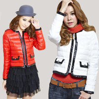 2013 free shipping, hot popular world famous brand new arrival factory on sales  thin female short down coat winter slim design