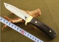 Free Shipping  7 3/4 '' Browning Guardian 3.5MM Blade 7Cr17 Full Tang Wood Handle Hunting Knife SH164 Survival Outdoor knives
