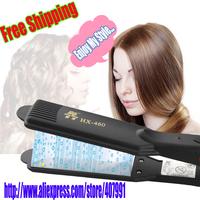 Free Shipping! High Quality Quick Heatting Electric Splint Straightener V style Hair Straighting Irons AC220V-50Hz
