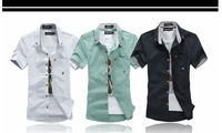 Summer male loose linen shirt plus size clothing plus size men's white fluid short-sleeve shirt