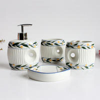 Jingdezhen ceramic bathroom set lovers cups toothbrush cup tooth cylinder soap box bathroom supplies