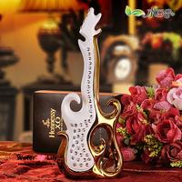 Classical ceramic decoration fashion guitar diamond crafts home decoration