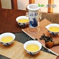Quality bone china tea set blue and white tea glass tea device 7 ceramic tea set