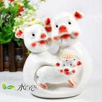Ceramic pig decoration piggy bank piggy bank pig piggy bank crafts tendrils