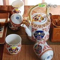 Bone china tea set tea set teapot beijing opera mask bone china cup