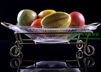 Stripe glass plate fruit plate solid color snack tray dessert plate 3  FREE SHIPPING