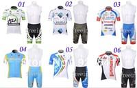 Free Shipping 2012 65 Styles BIB Short SUIT Team Cycling Jerseys Bike Jersey+ Bib shorts.Man's outdoor sport riding Suit