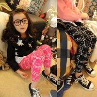 Free shipping new fashion 2013 autumn models children clothing hello Kitty leggings for girls pants, kids
