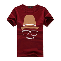 Free shipping Fashion Male T-shirts Men's summer cotton casual t-shirt clothing tops Men cartoon character element t shirt