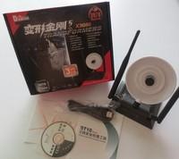 Wifi Decoder 3080000N 5800MW 68dBi 54Mbps 3 Antenna BLACK DIAMOND Realtek8187L chipset usb wifrless adapter FREE SHIPPING