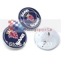 TOP SAAB SCANIA Bonnet Badges Emblem with 2 Pins 50mm