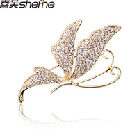 boutique accessories - sparkling crystal butterfly brooch corsage silk scarf buckle needle brooch crystal brooch brooches