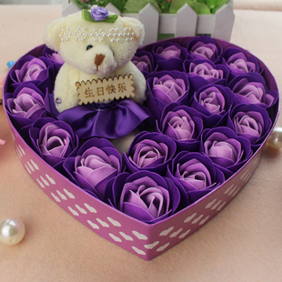 Birthday gift girlfriend gifts romantic small gift girls rose soap flowers in ca