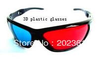 625pcs/lot Plastic 3d glasses for red / Blue  3D TV movie