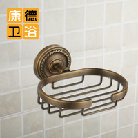 Bathroom copper vintage flower vine bathroom basket bathroom soap holder shelf (KP)