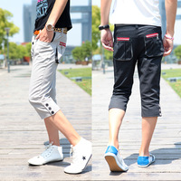 Hot-selling 2013 buttons back pocket three-dimensional red zipper male casual pants trousers b84f45 knee length